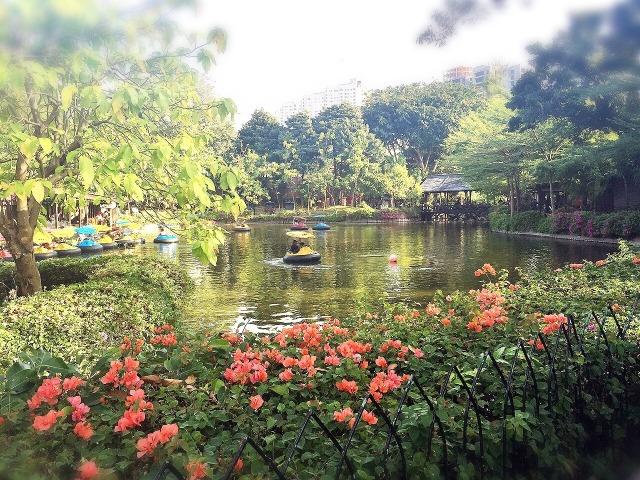 Hijau-hijau di taman dalam Dufan